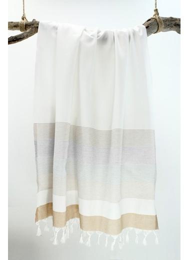 Bedinn N 90 X 180 Cm Pamuk Ipliği Yıkanabilir Stripe Peştemal Beyaz
